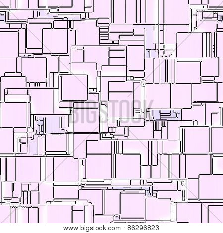 Circuit Squares Seamless Generated Texture