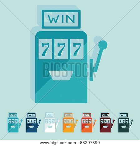Flat design. slot machine