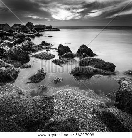 Ocean stones in Tel Aviv