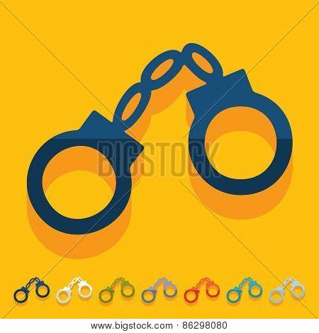 Flat design. handcuffs