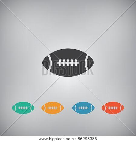 American Football Ball Icon - Vector