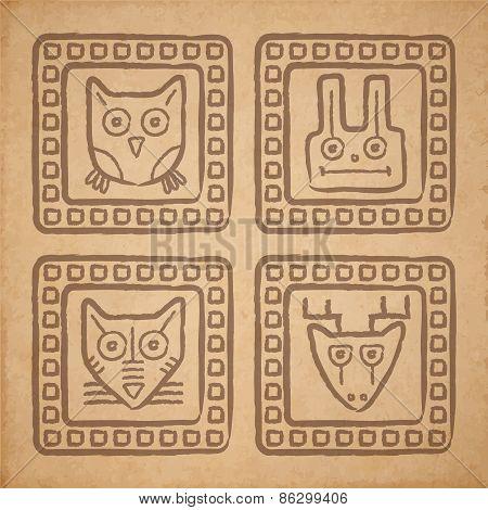 Animal Stamps Set