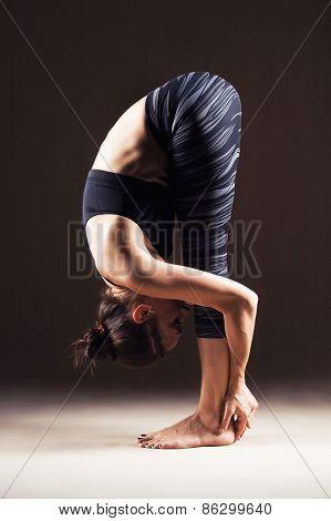 Beautiful Woman Is Doing Yoga Asana