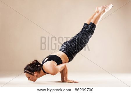 Beautiful Sporty Woman Is Doing Yoga Asana