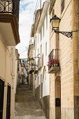 picture of costa blanca  - Charming street of one of the many small mountain villages on Costa Blanca Spain - JPG