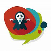 image of grim-reaper  - Grim Reaper Flat Icon With Long Shadow - JPG