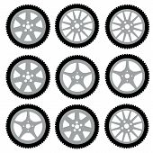 pic of alloy  - automotive wheel with alloy wheels - JPG