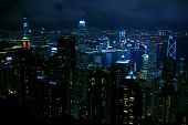 Постер, плакат: Путешествия Ночная точка зрения Виктория Харбор Гонконга