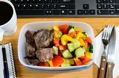 pic of lunch box  - homemade lunch box at modern stylish work place - JPG