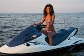 picture of ski boat  - African - JPG