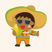 picture of mexican fiesta  - Mexican Theme Elements - JPG