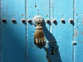 foto of fatima  - Old door knocker  - JPG