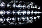 pic of diodes  - LED light bulb on a black background - JPG