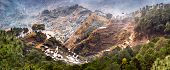 image of ifugao  - Amazing panorama view of rice terraces fields in Ifugao province mountains - JPG