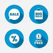 picture of medal  - Sale speech bubble icon - JPG
