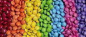 picture of bonbon  - Closeup of the pile of colorful sweet bonbons - JPG