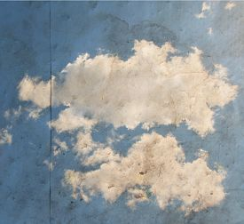 pic of ozone layer  -  paper texture background with a clouds image overlay toned with a retro vintage instagram filter app or action effect - JPG