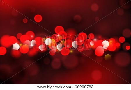 Dark Red  Background, With Gradient Mesh, Vector Illustration