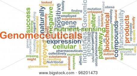 Background concept wordcloud illustration of Genomeceuticals