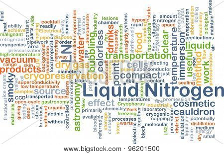 Background concept wordcloud illustration of liquid nitrogen LN