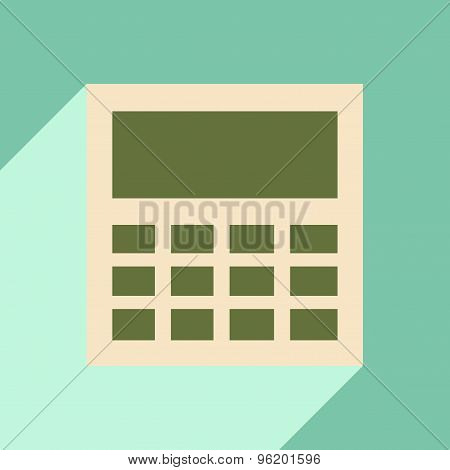 Flat with shadow icon and mobile application calculator