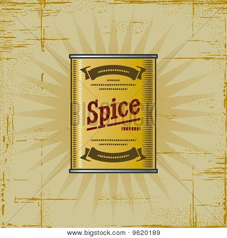 Retro Spice Can