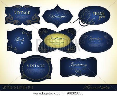 Retro vintage style label