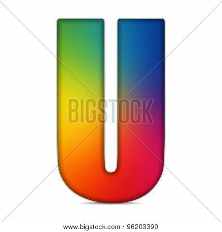 Gay Flag Shiny Glass Alphabet