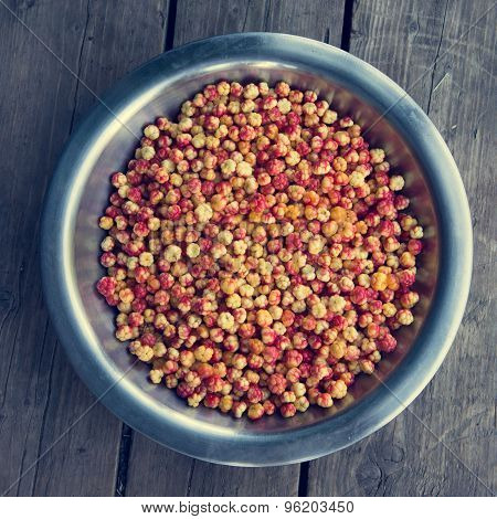 bowl with cloudberries