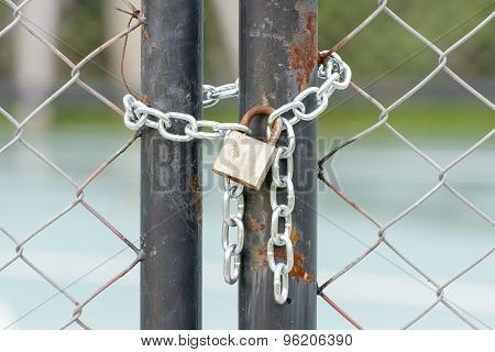 Lock on a chain