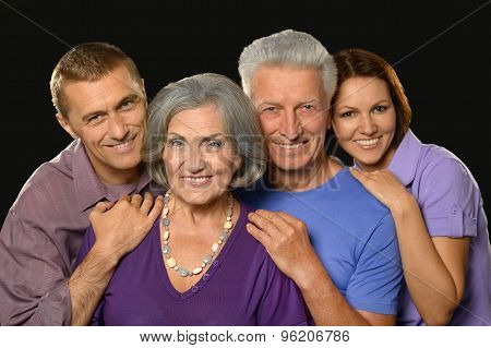 Family portrait with senior parents