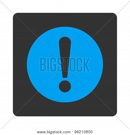 Problem flat blue and gray colors rounded button
