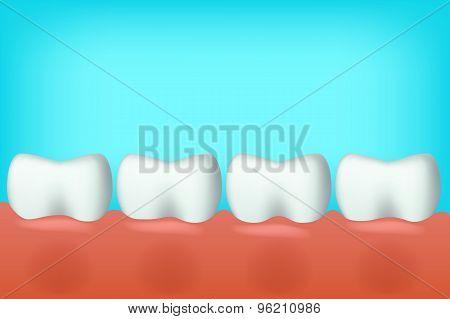 teeth in one line