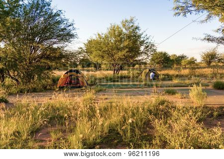 Campground In Witvlei In Namibia