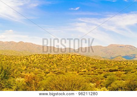 Landscape Near Windhoek In Namibia