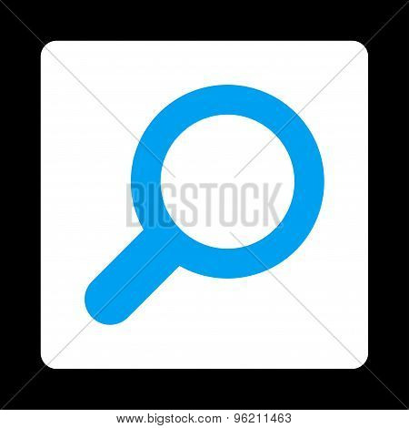 View flat blue and white colors rounded button