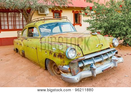 Rusty Vintage Car In Namibia