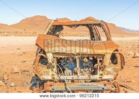 Rusty Car In Nabimiam Desert