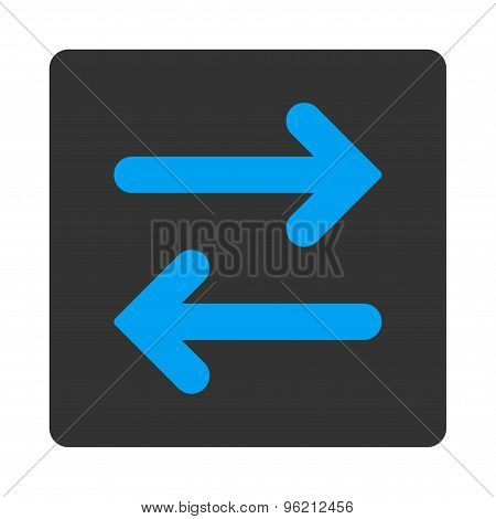Flip Horizontal flat blue and gray colors rounded button