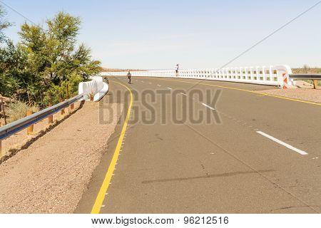 Bridge Over Fish River In Namibia