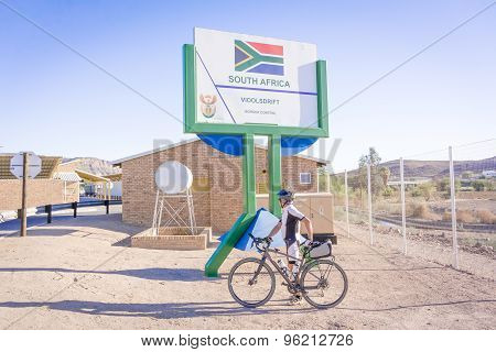 Namibia And South Africa Border In Vioolsdrif