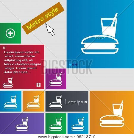 Lunch Box Icon Sign. Buttons. Modern Interface Website Buttons With Cursor Pointer. Vector