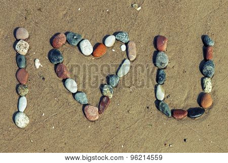 Love Words Written On The Beach