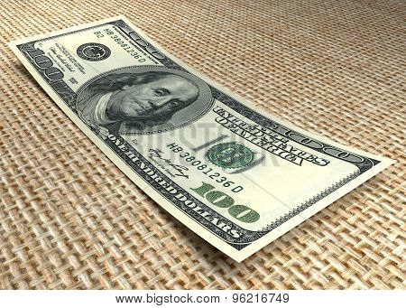 Money. One Hundred Dollar Bill