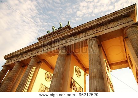 Brandenburger Gate In Berlin