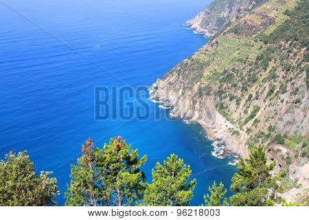 View On The Coast Of Cinque Terre
