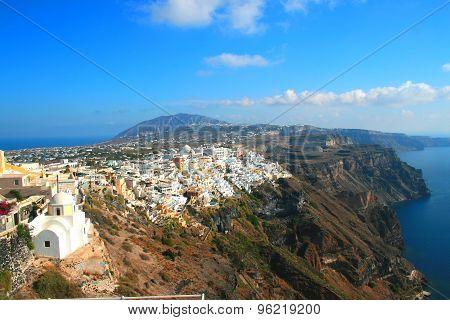 Santorini, Greece - Imerovigli to Fira