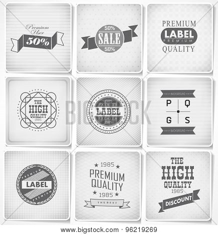 Premium, Guarantee and sale Labels