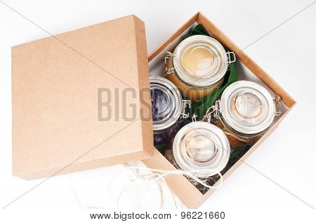 Different spices in jars