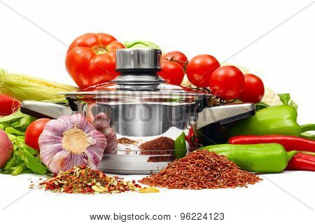 Pan With Fresh Vegetables